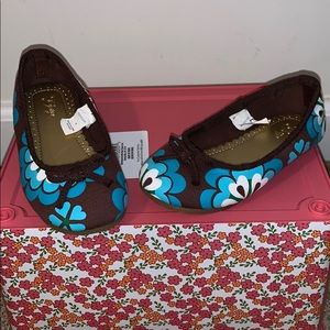 Girl's Gap Floral Ballet Flat Shoes. Size 8 NEW